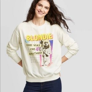NEW Blondie Pullover Graphic Crewneck Sweatshirt